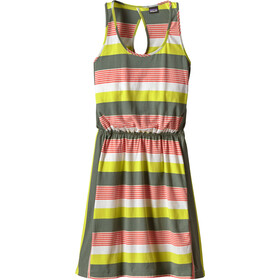 Patagonia W's West Ashley Dress Fitz Stripe Micro: Hemlock Green